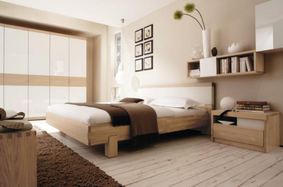 bedroom with wooden flooring look natural1